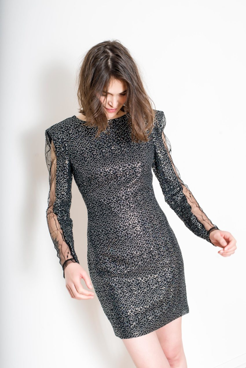 ALEXIS DRESS – Sequins All Over Polyester