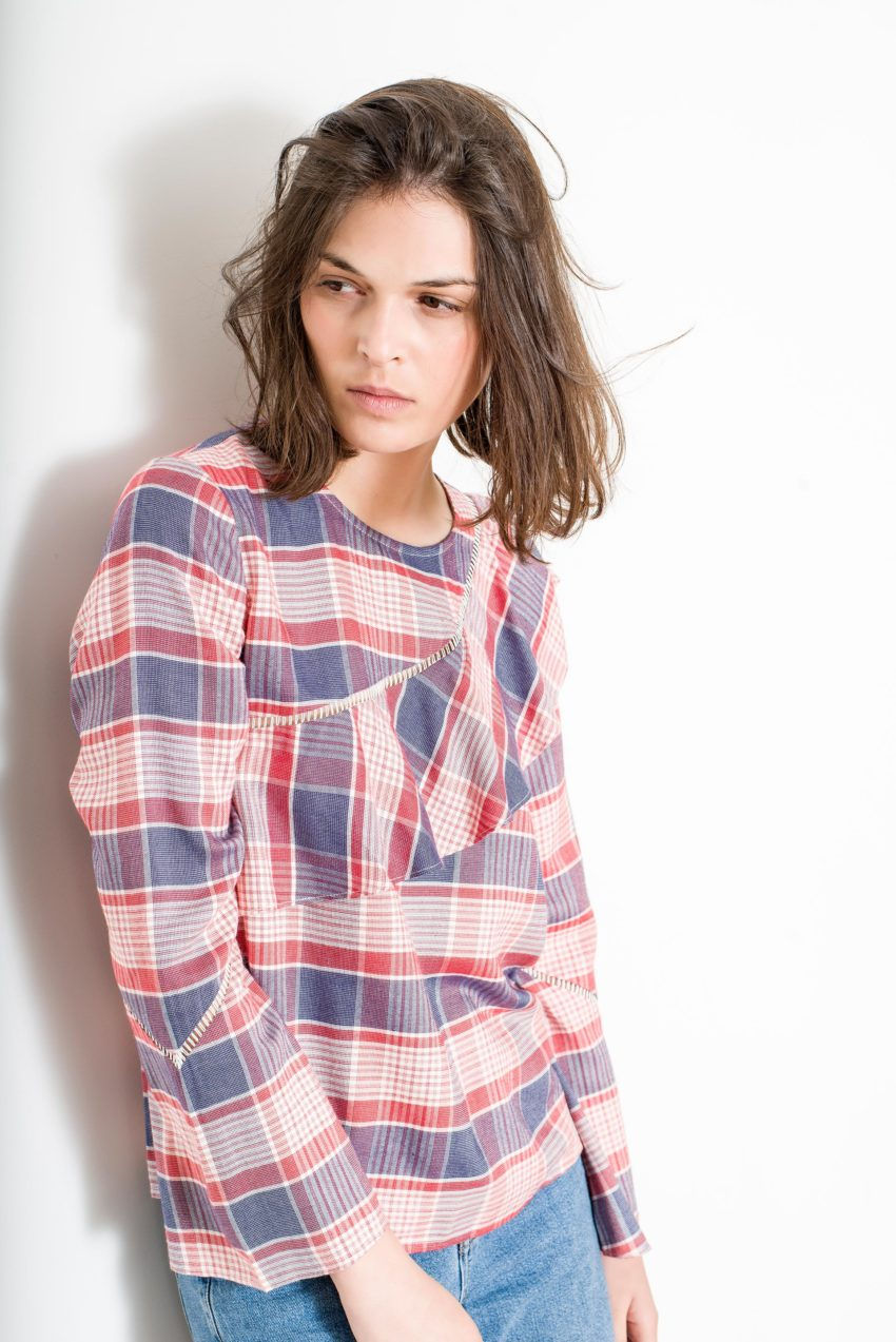DENIS TOP – Yarn Dyed Check