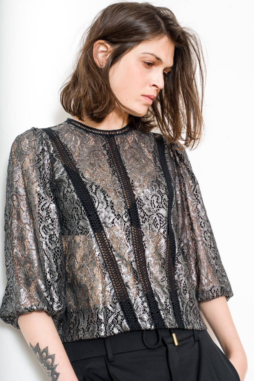 REALI TOP – Lurex Quoted Lace